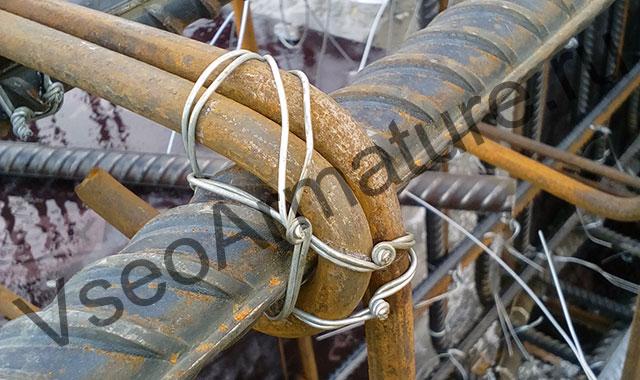 комбинированный узел вязки арматуры