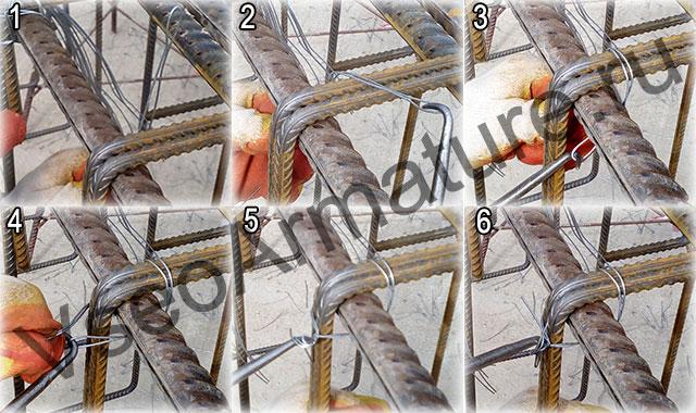 схема вязки мертвым узлом