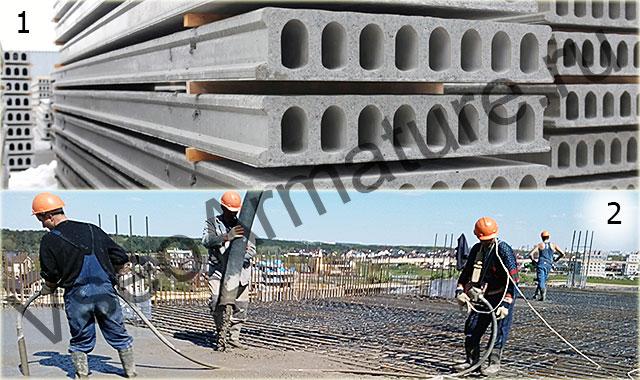 Виды бетонных перекрытий