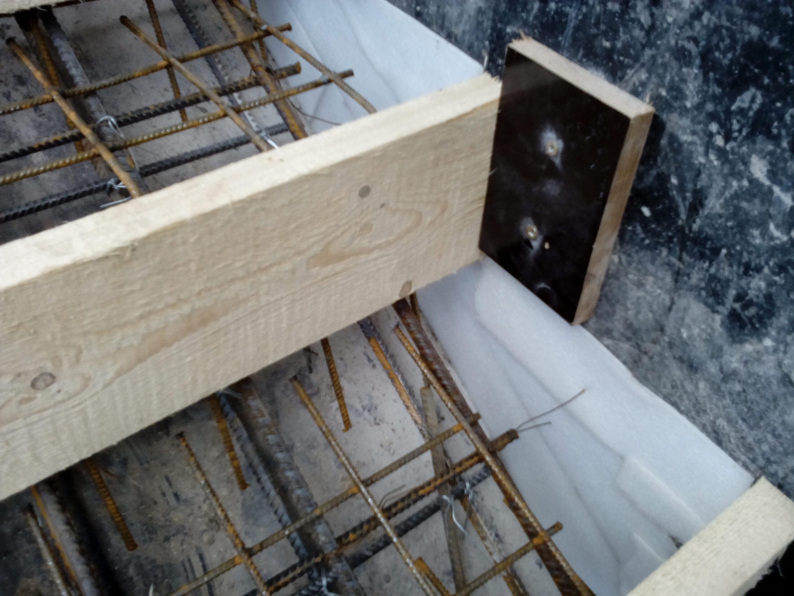 установка и армирование ступеней лестницы