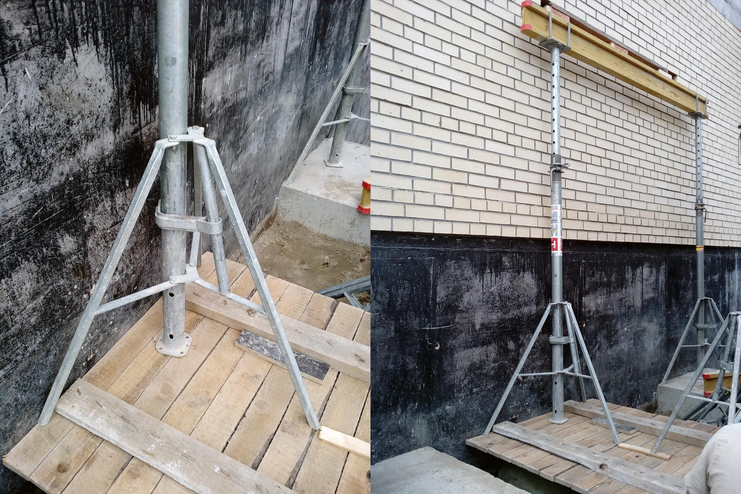 установка опалубки под лестничную площадку